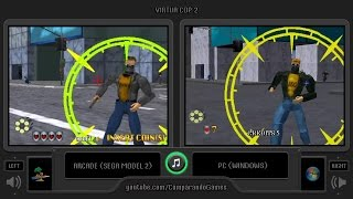 Dual Longplay [21] Virtua Cop 2 (Arcade vs Pc) Side by Side Comparison (Virtua Squad 2)