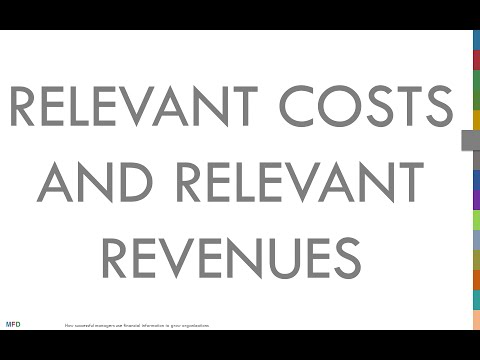 Concept 6.1: Relevant costs and relevant revenues