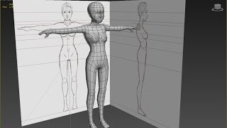 3DS Max Low Poly Base Woman from Box