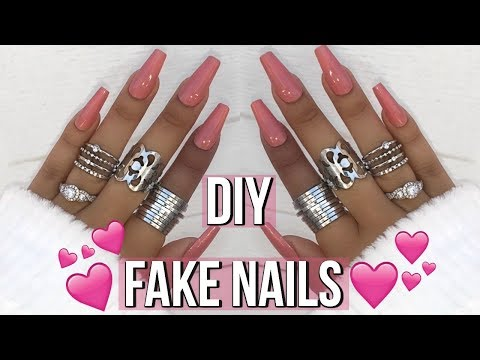 HOW TO : DIY FAKE NAILS AT HOME! EASY, QUICK & AFFORDABLE |  ohmglashes