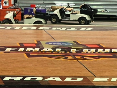 New Basketball Court in Place for Final Four