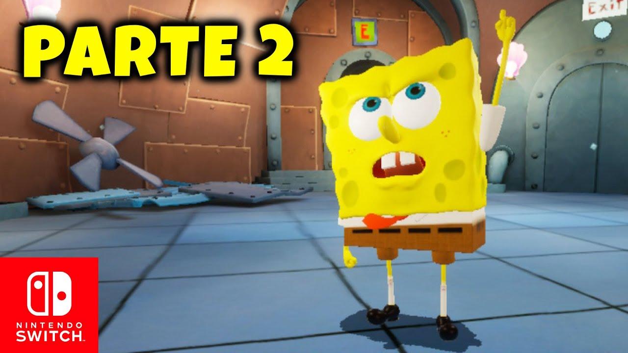 PARTE 2 👉 BOB ESPONJA para Nintendo SWITCH 👀 Encontré a Arenita | GAMEPLAY ESPAÑOL