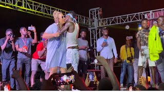 Patapaa Kisses German Girlfriend On Stage - Shay Concert