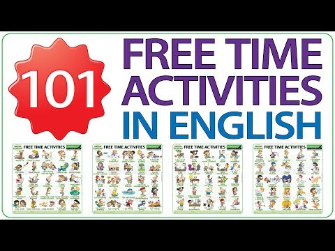 101 Free Time Activities In English - Learn English Vocabulary