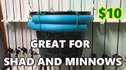 How To Make A Floating Live Bait Bucket / Live Well