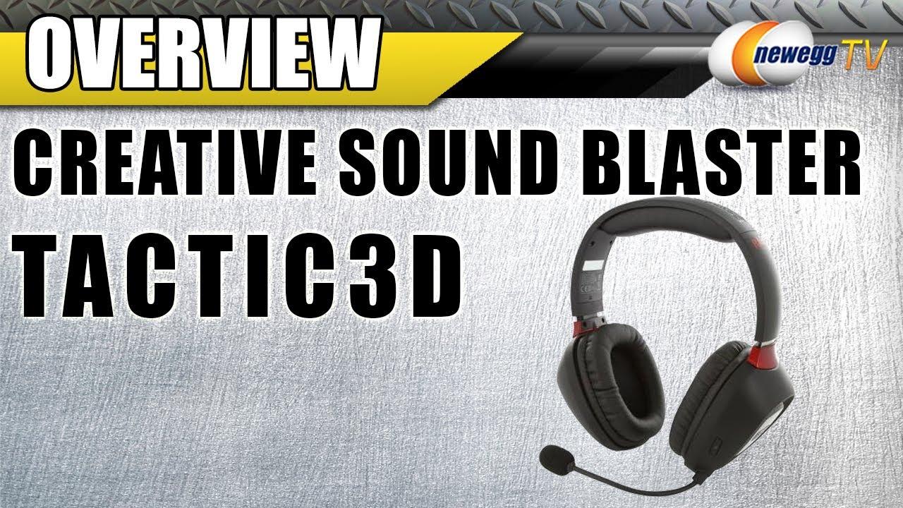 8bbb3d98b34 Creative Sound Blaster Tactic3D Rage Wireless Circumaural Gaming Headset  Overview - Newegg TV - YouTube