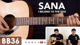Sana - I Belong to the Zoo Guitar Tutorial / Cover