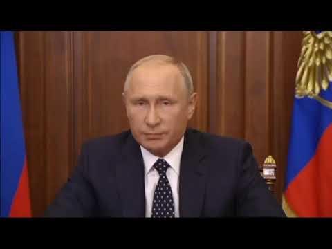 Путин и ручка. Важное обращение Путина: \