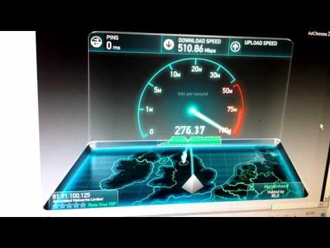 SpeedTest.net 10 Gigabit Fibre