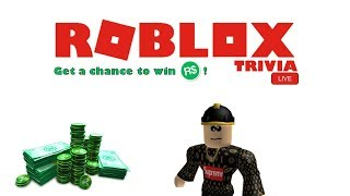 ROBLOX Trivia Live [2nd Beta Game] - WIN ROBUX by answering Questions!