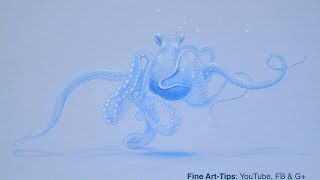 How to Draw an Octopus - Underwater