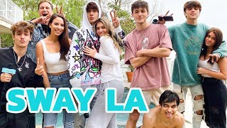 Bryce Hall Farts During Sway LA House Tour | Hollywire