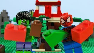 LEGO Spiderman STOP MOTION LEGO Superheroes Spiderman And Hulk Treehouse Build | LEGO | Billy Bricks