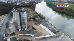 Dynamitage de silos - Site Lafarge (Cormeilles-en-Parisis)