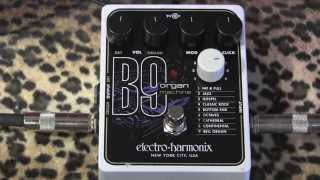 Electro Harmonix B9 Organ Machine pedal demo with Gretsch White Falcon & Dr Z