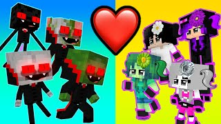 BEAUTIFUL GIRLS vs VAMPIRE BOYS - Love Curse! - Minecraft Animation