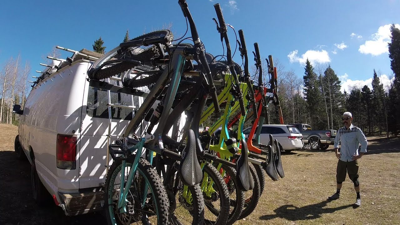 Swinging bike racks like when
