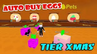*AUTO BUY EGG* CHRISTMAS UPDATE 14 & HUNT RAREST PENGUIN PET IN PET SIMULATOR (Roblox)