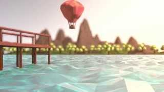 Soft Trip | Low-Poly Animation [Island+Hot Air Balloon] Cinema 4D