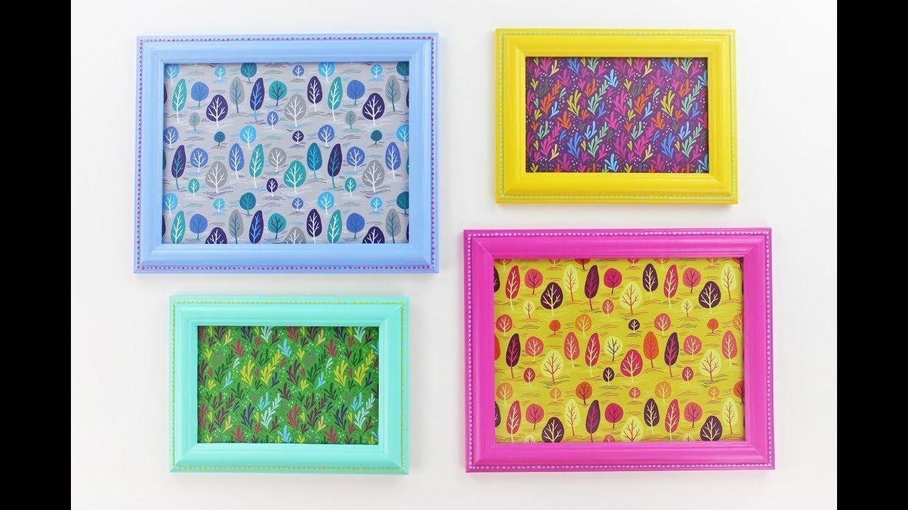 Diy Frame Idea Recycled Frame Idea Diy Painted Frames Frame Painting Ideas Youtube