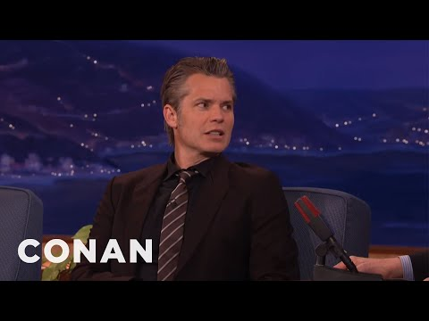 Timothy Olyphant Smoked Willie Nelson's Weed  - CONAN on TBS
