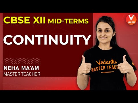 Continuity Class 12 | Continuity of a Function at a Point | CBSE Previous Year Questions | Vedantu