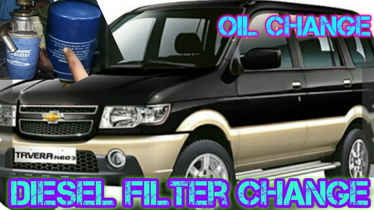 Tavera Oil Change Diesel Filter Change Youtube