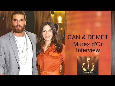 Can Yaman & Demet Ozdemir ❖ Interview ❖ Murex d'Or ❖ Can speaking