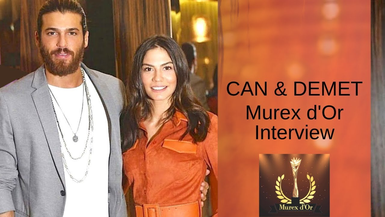 Can Yaman & Demet Ozdemir ❖ Interview ❖ Murex d'Or ❖ Can speaking English ❖  2019