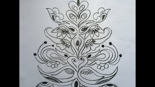 Decorative Painting- Draw and Trace Freehand Design