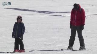 مصر العربية | سياحة الثلج تنتعش في لبنان