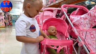 ✔ Baby Born VLOG. We are buying a perambulator for a Doll. Покупаем коляску для Куклы. Серия 8 ✔