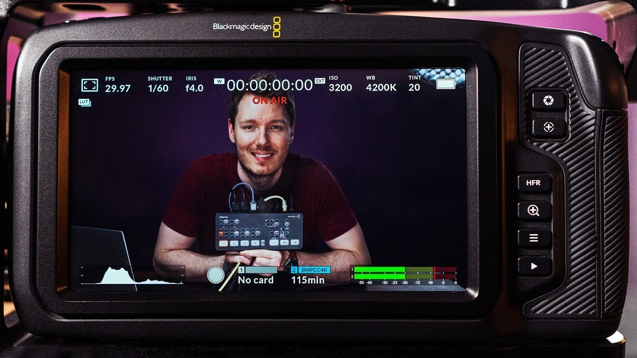 Live Streaming With Blackmagic Pocket 4k Atem Mini Combo Tutorial Review Youtube