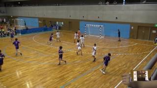 6日 ハンドボール女子 国体記念体育館Dコート 日川×城北 2回戦 1