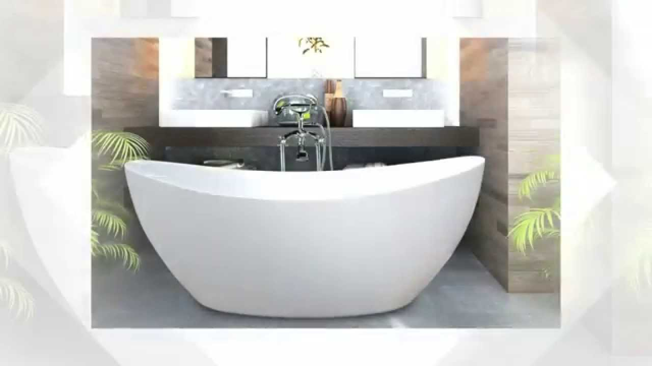 Stand alone bathtubs - YouTube