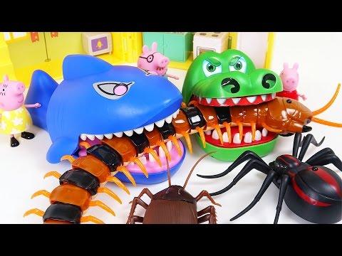 Terrible Bugs Attack!! Go Crocodile and Shark!! - DuDuPopTOY