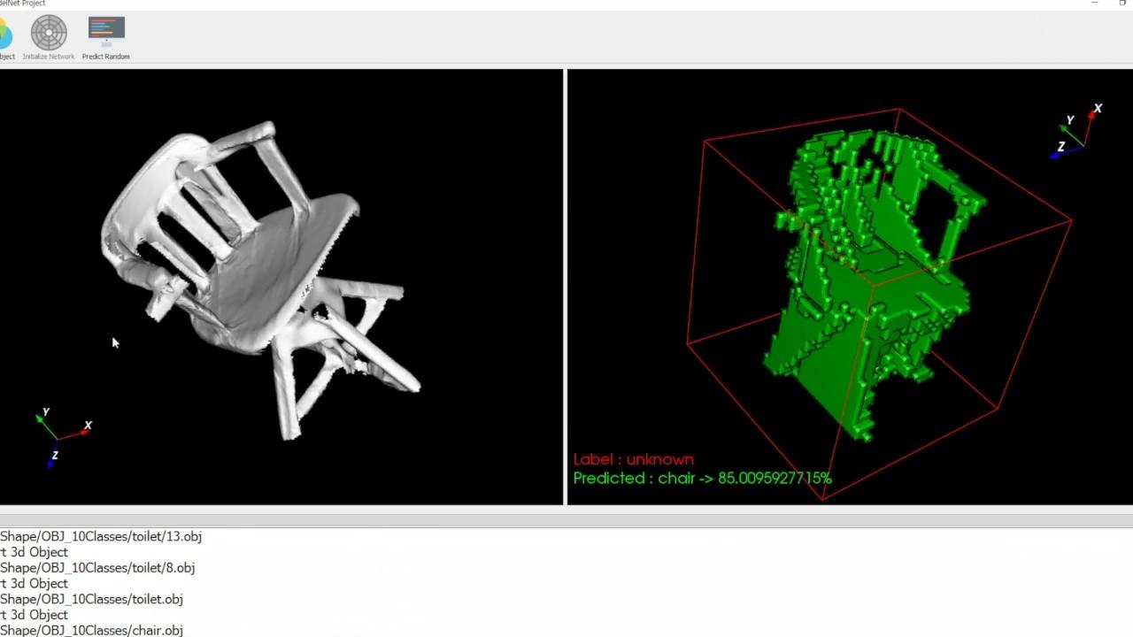 3D Object classification (Voxel-based CNN)