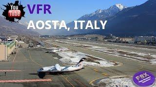 [FSX] Belissimo Voo Visual nos Alpes | Lugano (suiça) ✈ Aosta (Itália)