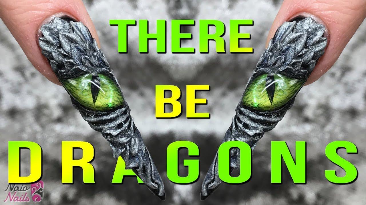 Dragons Eye Nail Design Acrylic Gel Game Of Thrones Nails