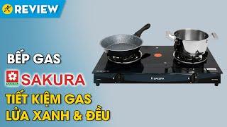 Bếp gas đôi Sakura: lửa xanh và đều, tiết kiệm gas (SA-695SG) • Điện máy XANH
