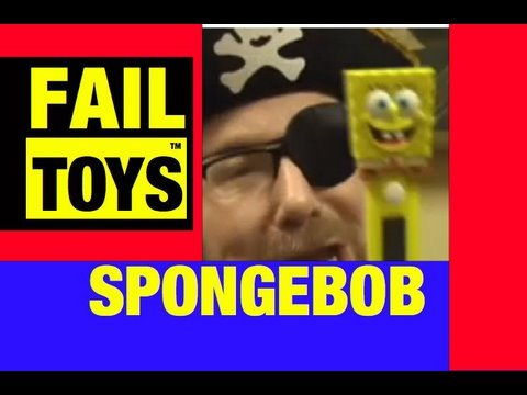 Funny Video- SpongeBob Squarepants, Fail Toy by Mike Mozart @JeepersMedia Funny Channel on YouTube