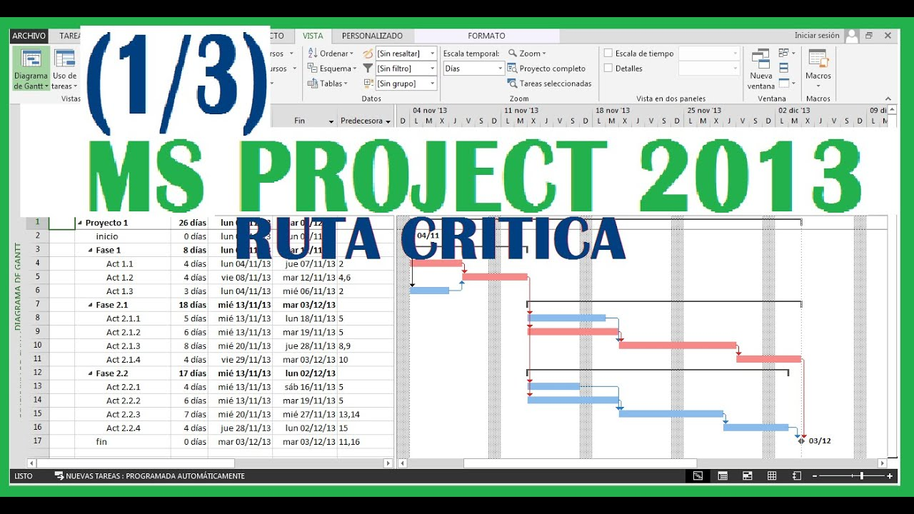 ms project 2013 1 3 f cil de aprender youtube rh youtube com Microsoft Project 2013 for Education Microsoft Project 2013 What's New