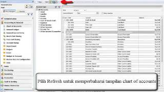 Cara Pembuatan dan edit Chart Of Accounts