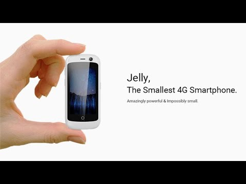 World's smallest 4G smartphone : Jelly