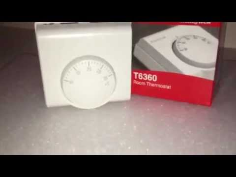 Honeywell Standard Room Stat T6360 Youtube