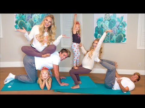 Extreme Family Yoga Challenge While Savannah's Pregnant!!! (Bad Idea...)