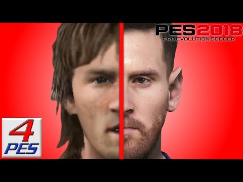 Messi Face Evolution From PES 4 To PES 2018