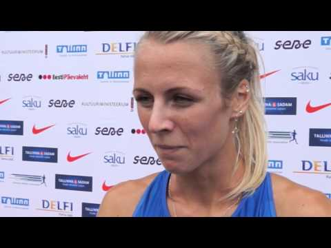 Grit Šadeiko (EST) after the first day at EC Combined Events Super League, Tallinn 2013