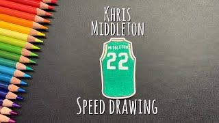 Khris Middleton Jersey Speed Drawing|