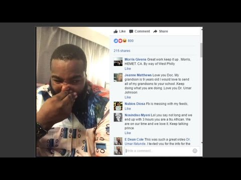 Dr Umar Johnson breaks down crying on Facebook Live telling his life story exposing secrets
